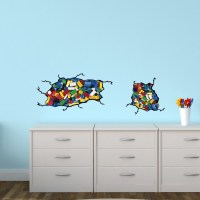 Reusable Wall Decals With Lego Inspired Wall Stickers For ...