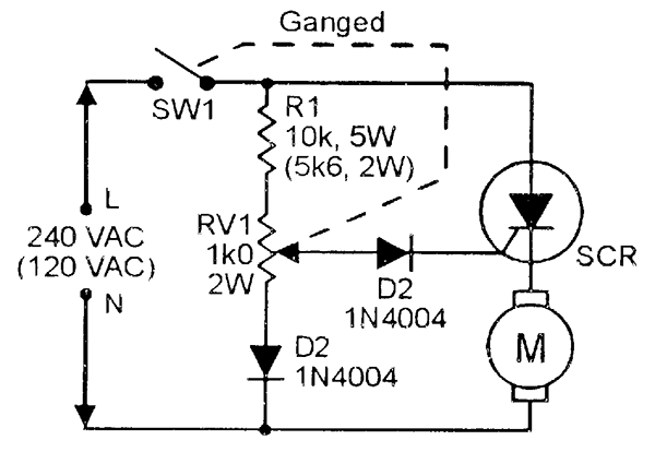 ac motor speed control by scr