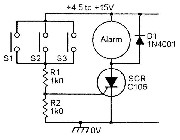 Scr Latching Circuit Diagram Wiring Schematic Diagram