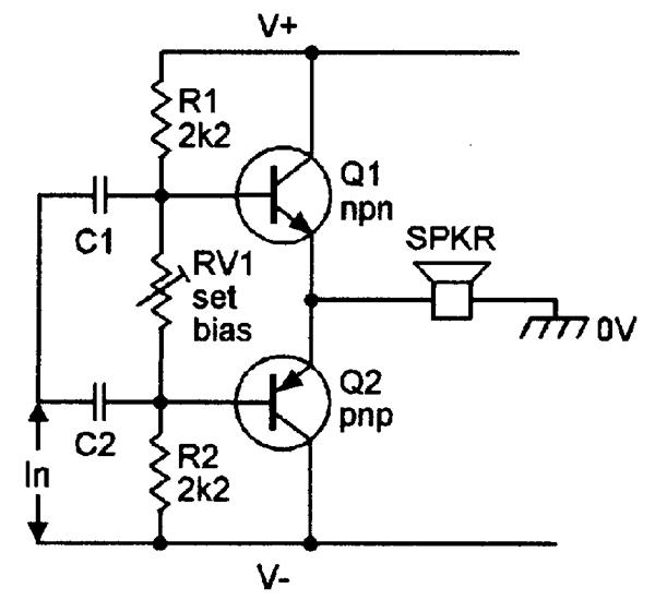 figure 2 basic voltage amplifier circuit