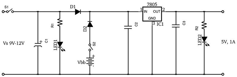 Battery Backup Circuit standard electrical wiring diagram