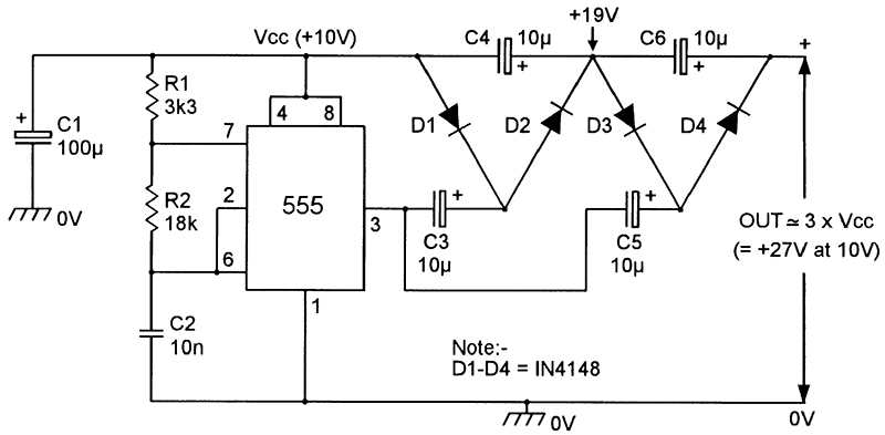 dc voltage doubler circuit