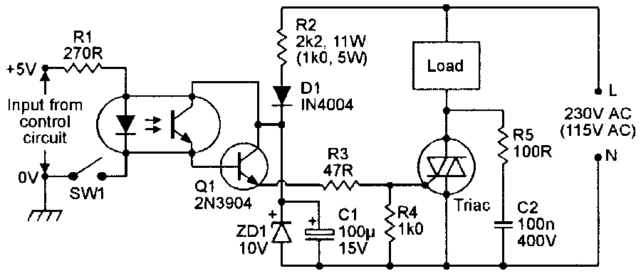 thyristor heater control