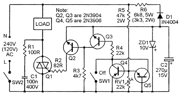 few switching regulator circuits