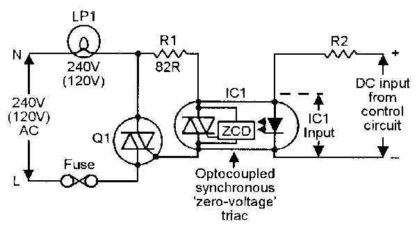 switching on off 240v via 26vdc