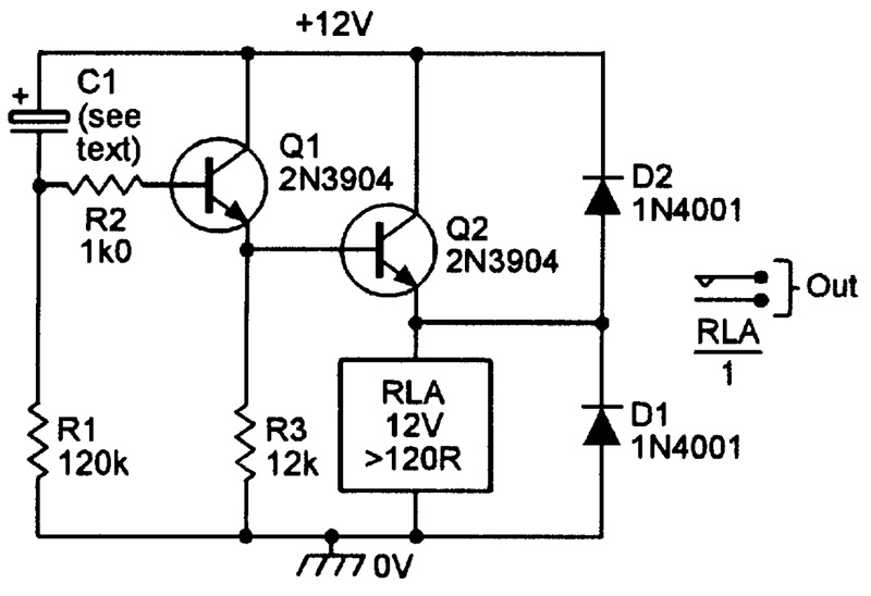 delayed switchon relay driver