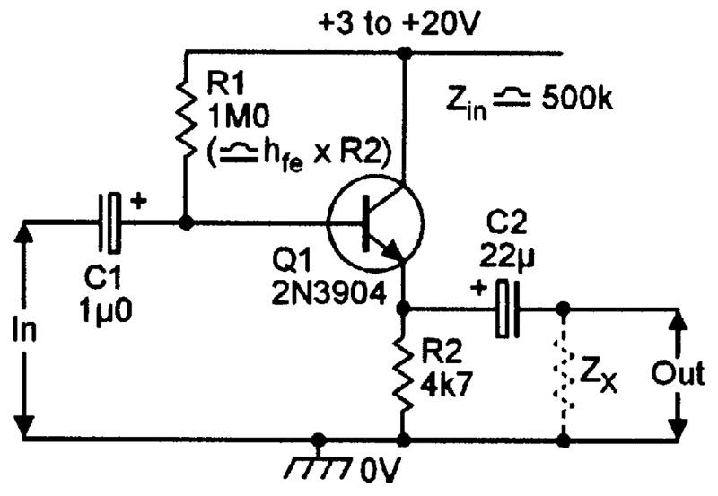 ac coupled emitter follower circuit