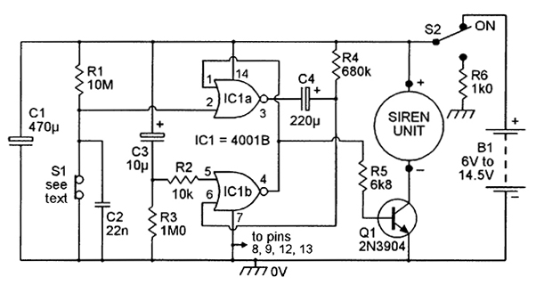 alarm contacts wiring in series