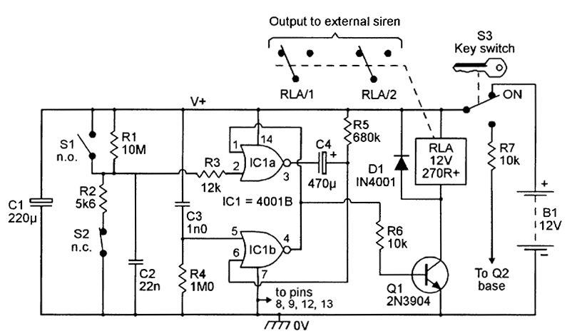 siren wiring diagram security system