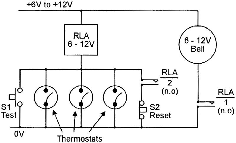 relay alarm circuit