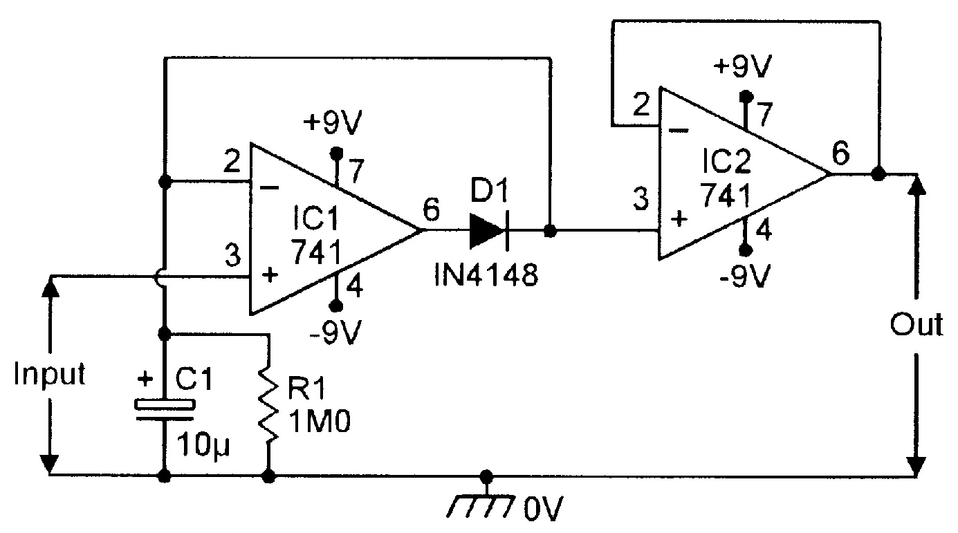 emf sensor circuit using opamp gadgetronicx