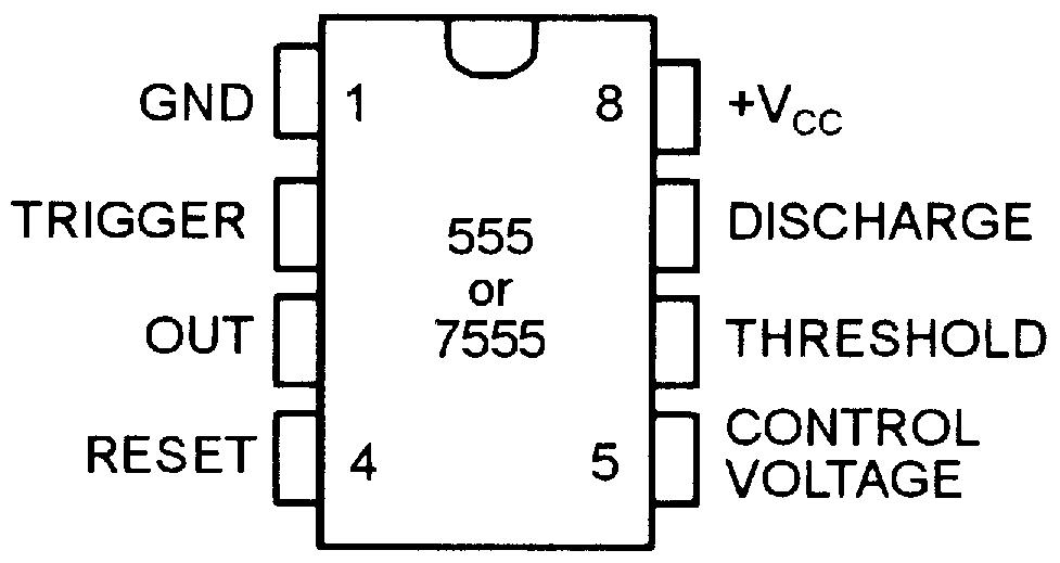 ic 555 timer pin diagram