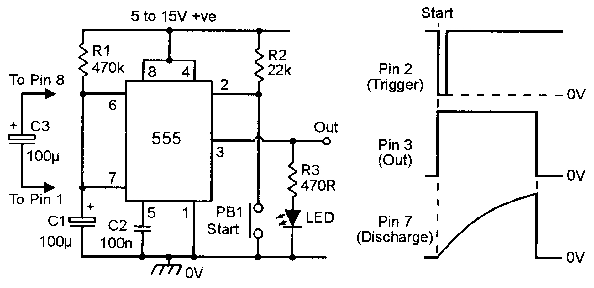 how to build a clock circuit with a 555 timer