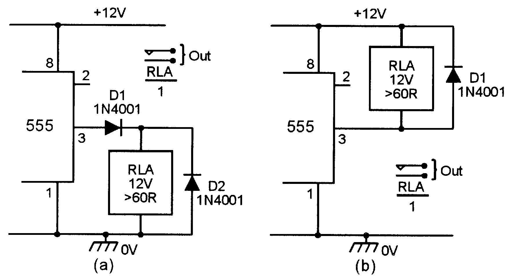basic delay timer circuits using ic 555
