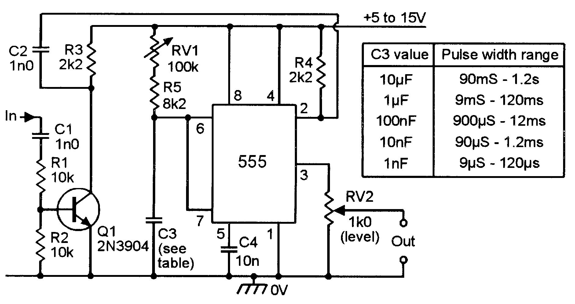 monostable delay circuit diagram tradeoficcom