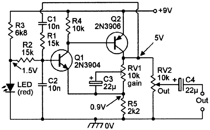 Theoscillator Uses A Simple Circuit To Generate The Following Fixed