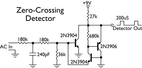 single supply zero crossing detector