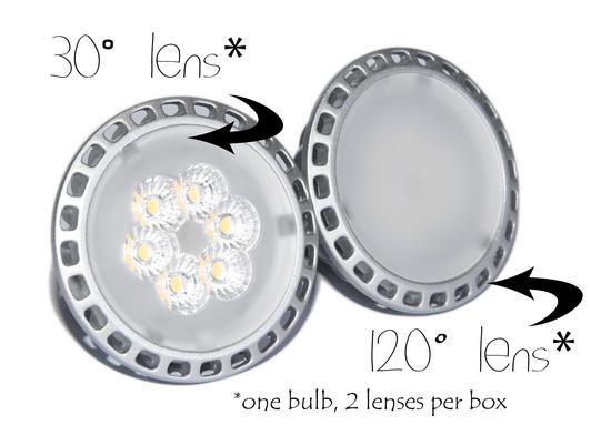 Nuvelux 6W MR16 LED bulb lenses