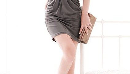 v-neckline-knot-front-double-wearing-design-grey-dress