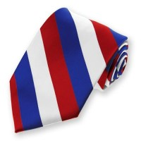 red white and blue striped tie  NVS Equine Attire
