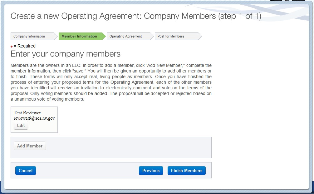 Nevada Digital Operating Agreement to create/manage your online LLC OA