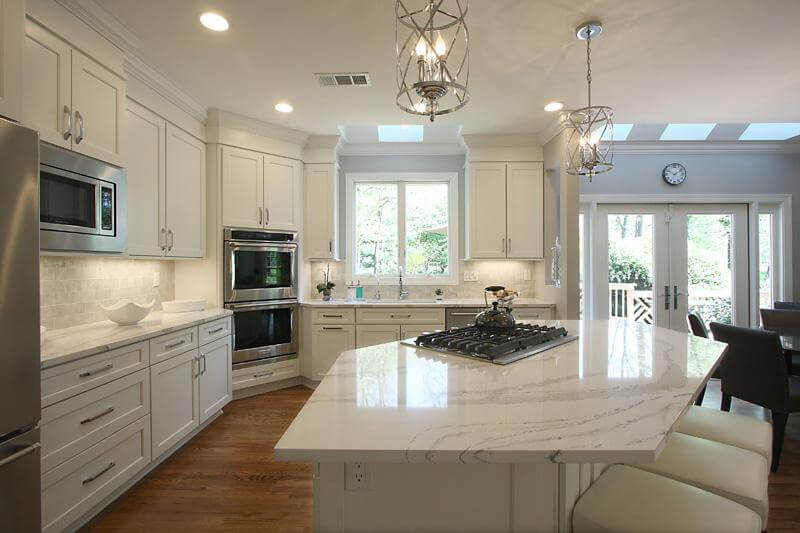 Amazing White Kitchen Remodel Nvs Kitchen And Bath Remodeling - Kitchen remodel northern virginia