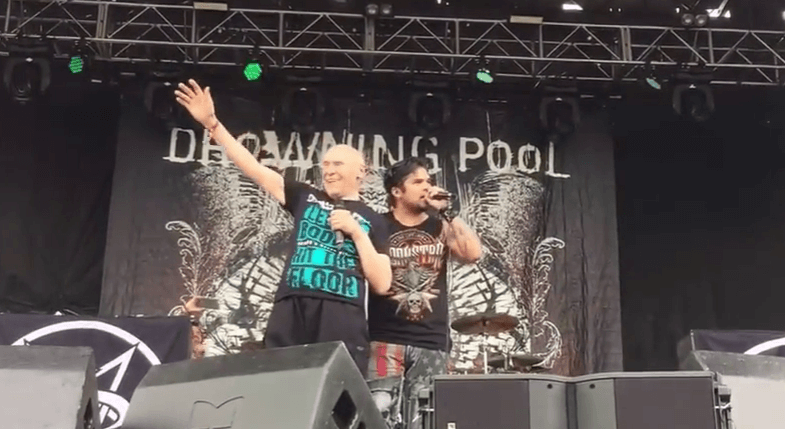 82 Year Old Man Fulfill His Dream Of Performing 'Bodies' With Drowning Pool