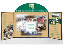 Portable table top panel displays nwci displays