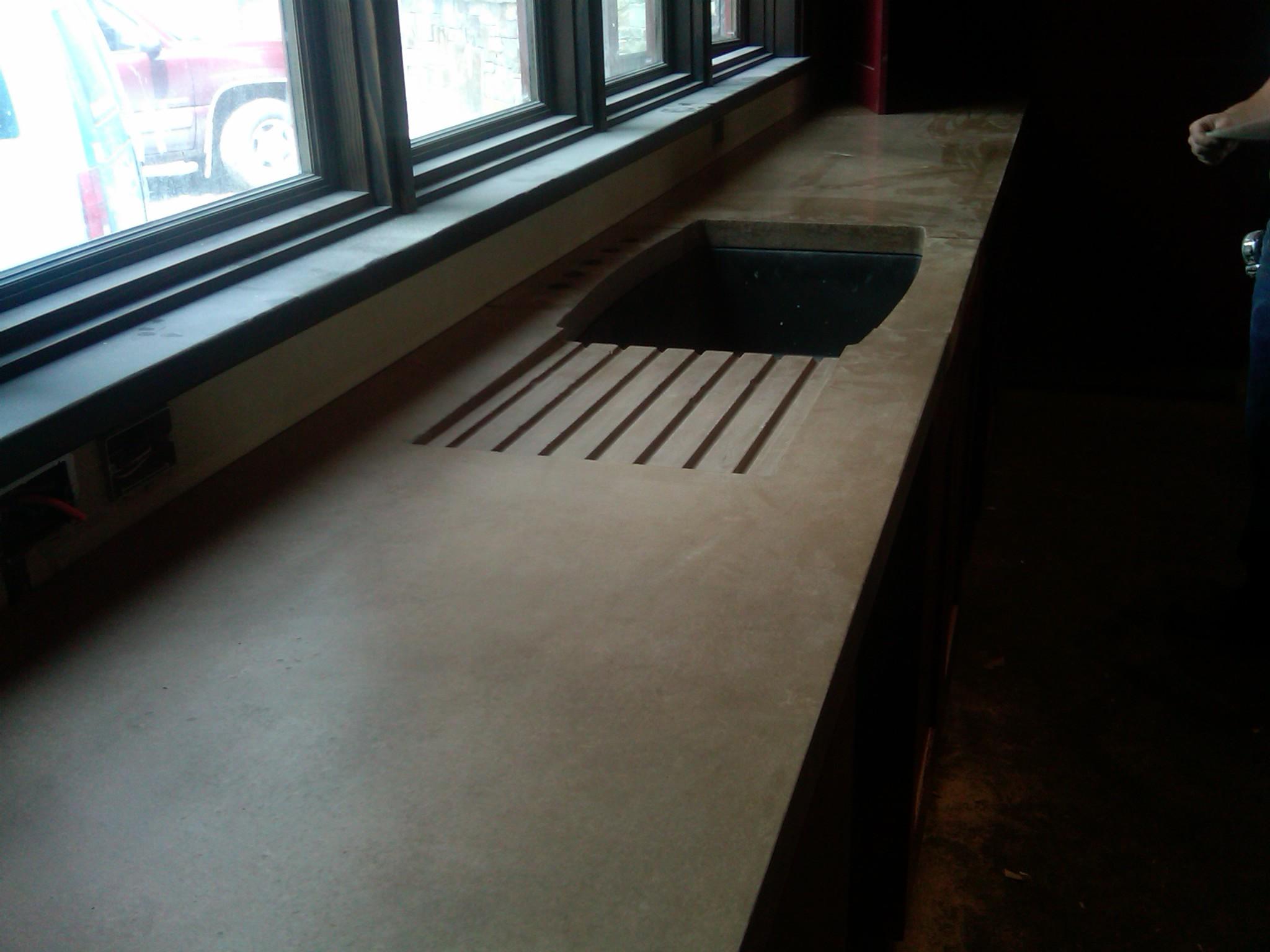 p 19 concrete kitchen table Custom Kitchen Countertops