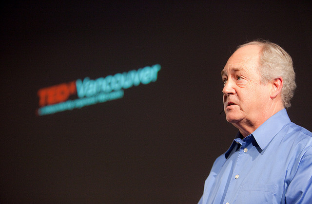Dr. Patrick Moore speaking at the 2009 TEDx Conference in Vancouver, Canada.