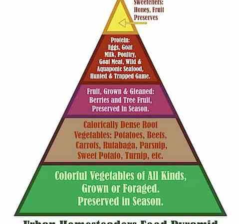 The Urban Homesteader Food Pyramid