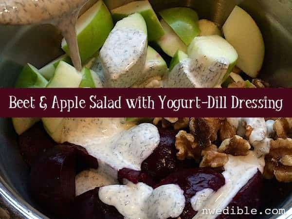 Beet and Apple Salad with Yogurt-Dill Dressing