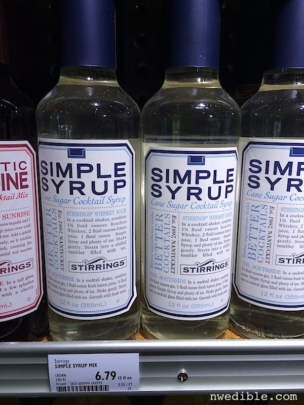Simple syrup serves as a sweetener in your cocktails. Since normal sugar would end up in the bottom of a glass, a syrup will dissolve better in liquid. The best way to make simple syrup is to measure your sugar and water in volume.