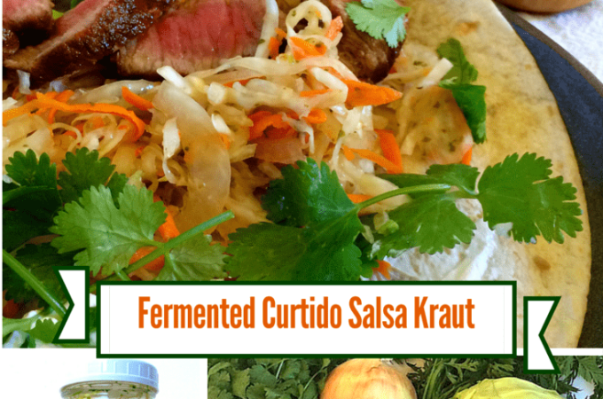 Lacto Fermented Curtido Cabbage Salsa