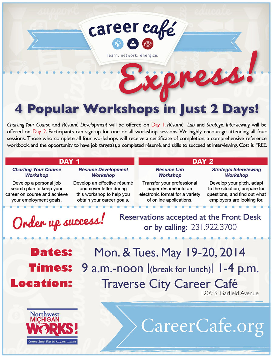 michigan works resume help job seekers michigan works association new career caf233 express offered at