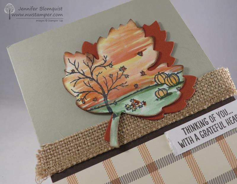 Happy Scenes  the Leaflets Framelits make Fun Thank You Cards! - make your own thank you cards