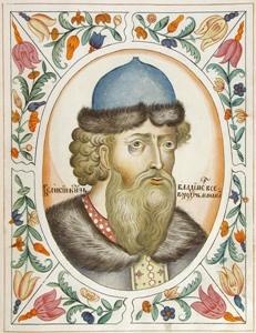 Великий князь Владимир Всеволодович Мономах. Портрет из Царского титулярника. 1672 год