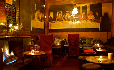 Nyc Bars With Fireplaces Brandy Library Art Bar Ninth