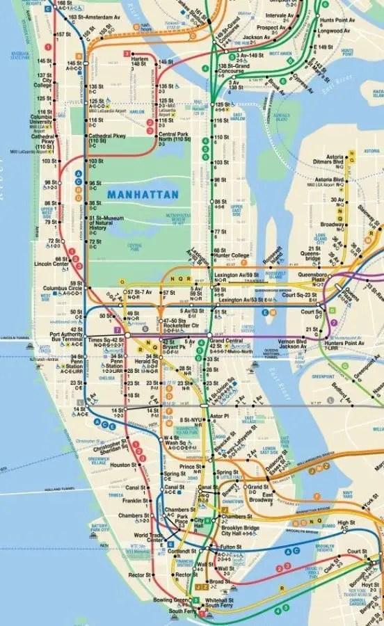 NYC Subway Map - FREE Manhattan Maps, Ride the Subway like a Pro!