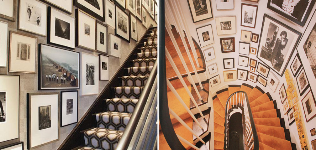 Staircase Picture Wall Ideas Nyc Interior Design