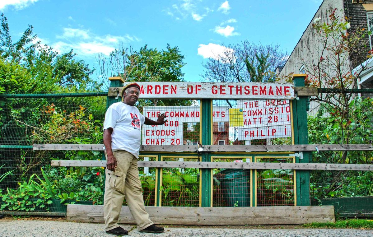 The Garden of Gethsemane in Ocean Hill-Brownsville, Brooklyn. Series: God in NYC Gardens