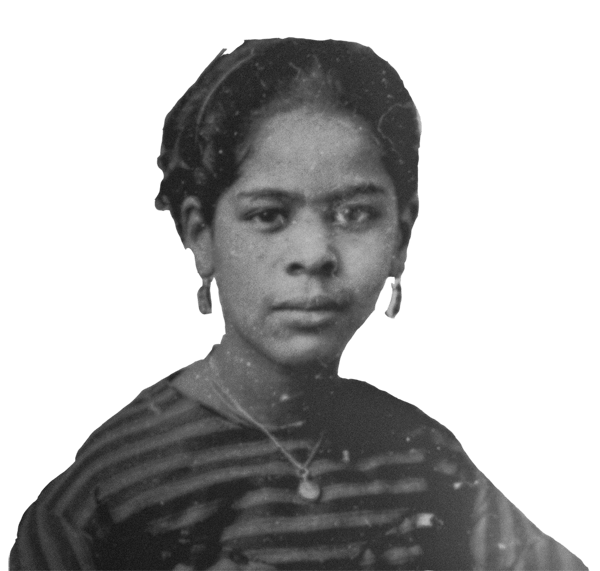 5-year-old Maritcha Lyons fled to Williamsburg with her parents and sister from the Draft Riots in Manhattan. The family had deep roots in Manhattan Christian churches but stayed in Brooklyn where Lyons became a school teacher and administrator. Detail from Maritcha Lyons portrait. Source:  Schomburg Center for Research in Black Culture, The New York Public Library.