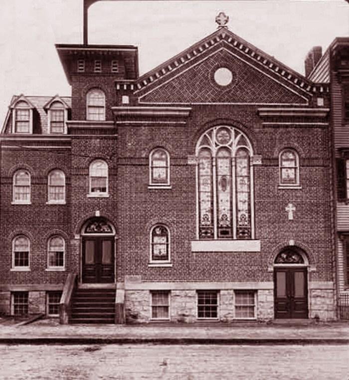 Dietz Memorial Church, Williamsburg, Brooklyn Feb 25, 1911. Photo: Brooklyn Eagle archives, Brooklyn Liberary