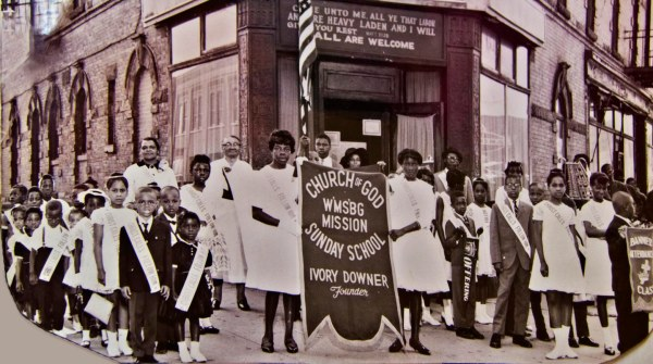Street scenes in 1950s included Sunday School Day Parades. Williamsburg Church of God. Courtesy of church