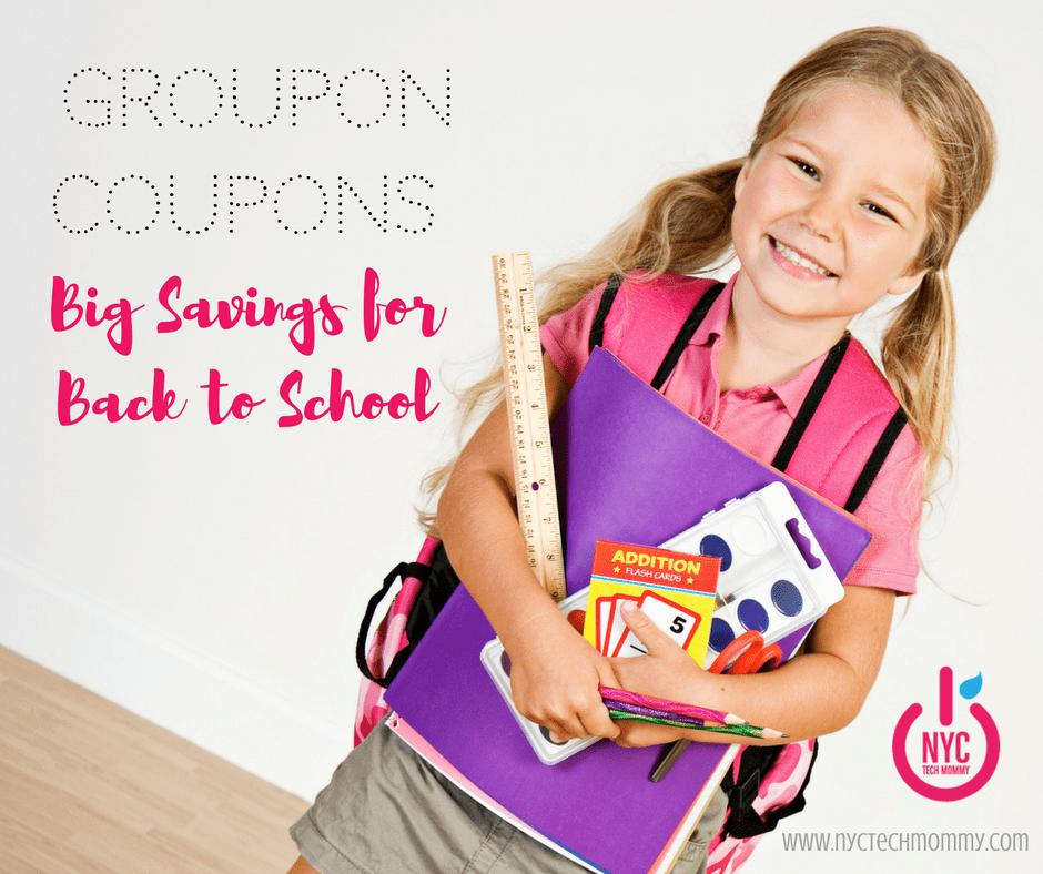 Groupon Coupons: BIG Savings for Back to School
