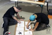 Dennis & Colin making some AK stencils