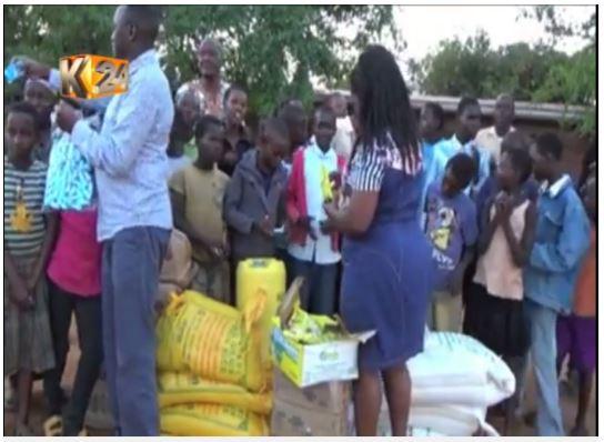 Christmas food donation by local Kenyan MP to Nyumbani Village