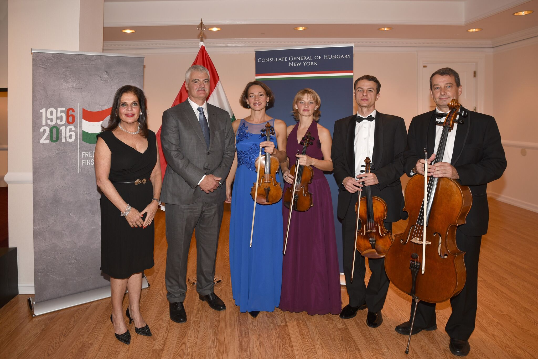 The Friends of the Budapest Festival Orchestra Kicks Off Music Season & Commemorates 60th Anniversary of the 1956 Hungarian Revolution with a Musicale at the Hungarian Consulate