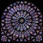 Stained glass windows of Notre Dame from which Lisa draws inspiration for her jewelry. Image taken from: http://www.therosewindow.com/pilot/Paris-N-Dame/table.htm