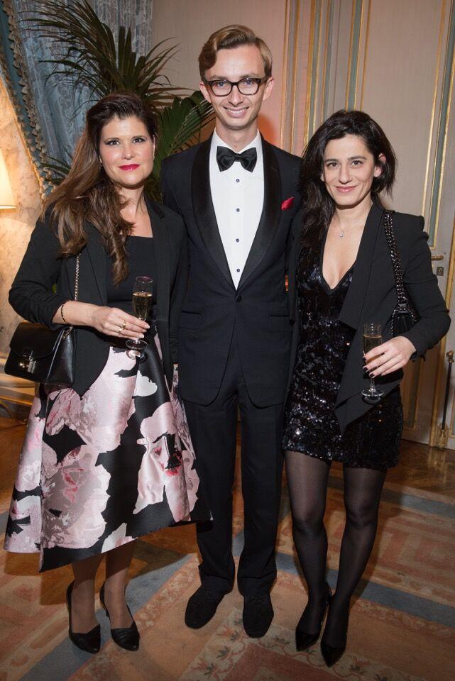 Vicomtesse Adda de Vaulchier, Cole Rumbough and Samine Salimpour